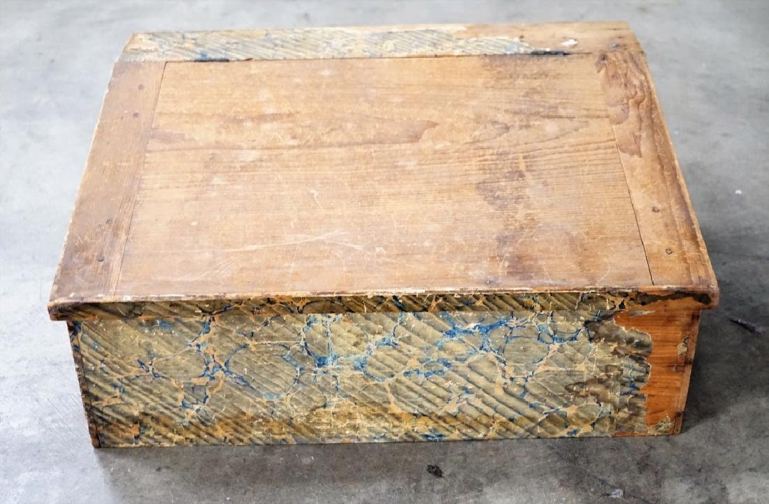PRIMITIVE WOOD SLANT TOP LAP DESK