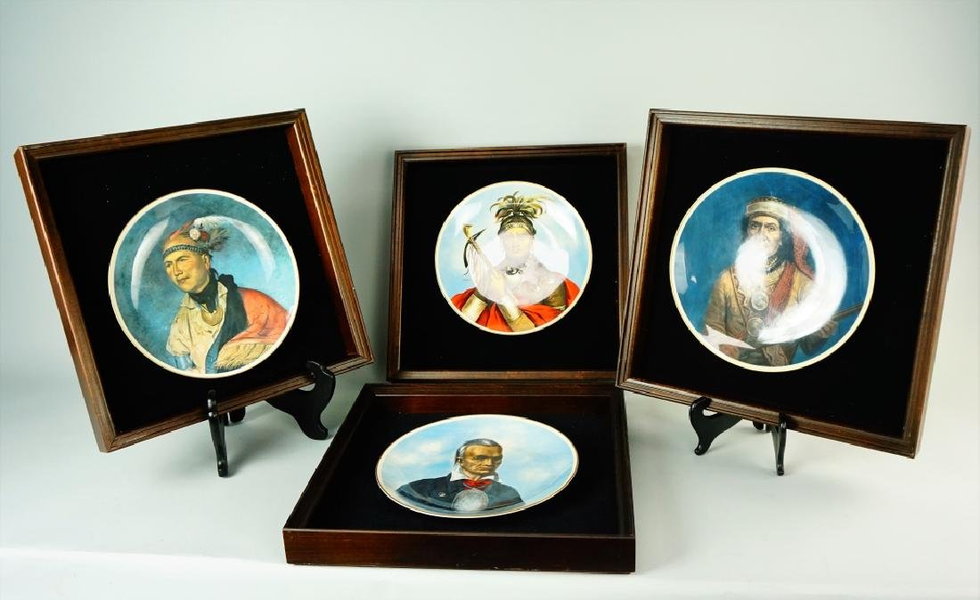 (4) CASTLETON GREAT CHIEFS OF THE IROQUOIS PLATES