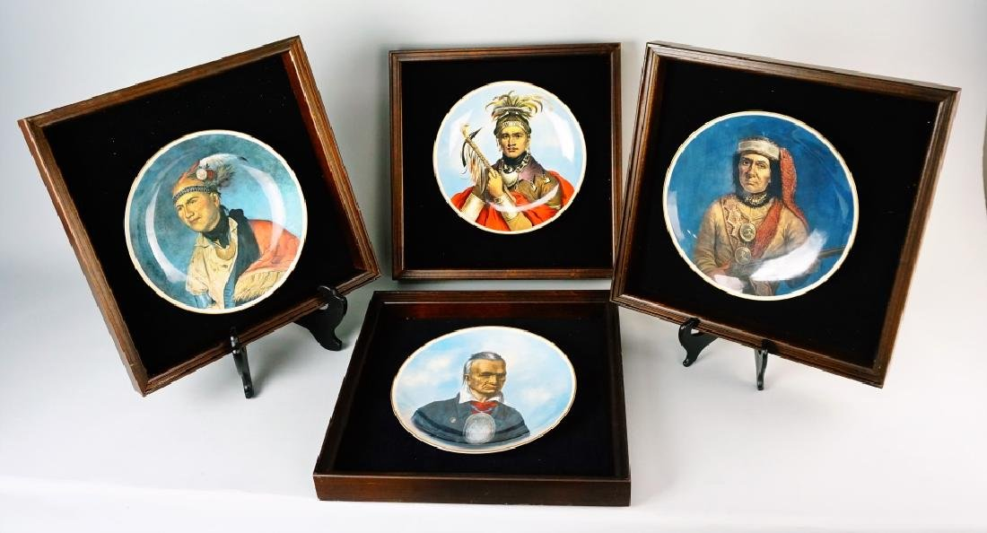 (4) CASTLETON GREAT CHIEFS OF THE IROQUOIS PLATES - 2