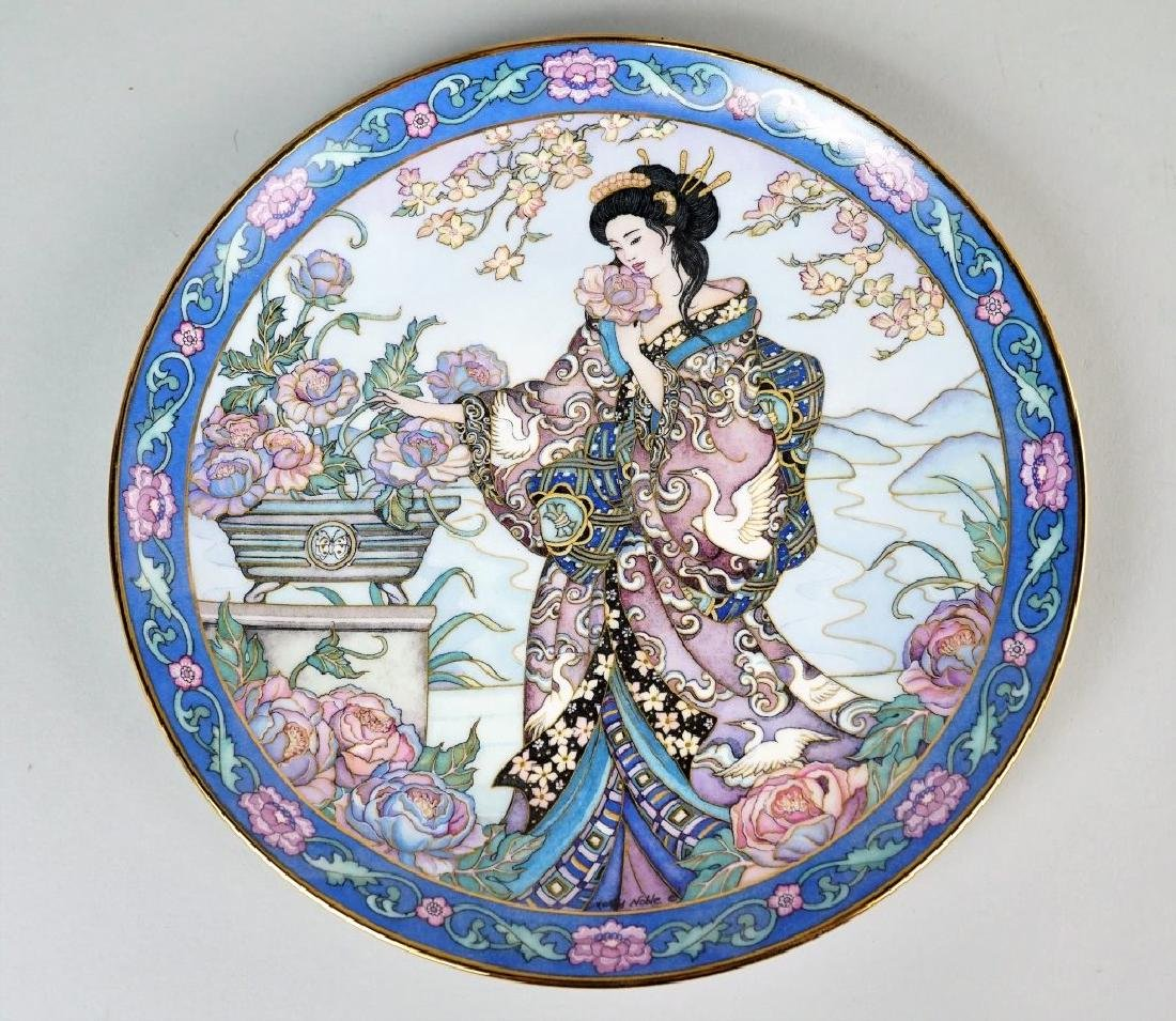 (6) ROYAL DOLTON MARTY NOBLE FLOWER MAIDEN PLATES - 6