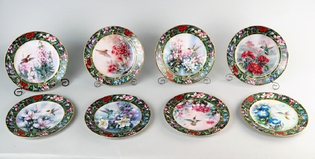 "8pc LEAN LIU ""HUMMINGBIRD TREASURY"" PLATE SET"