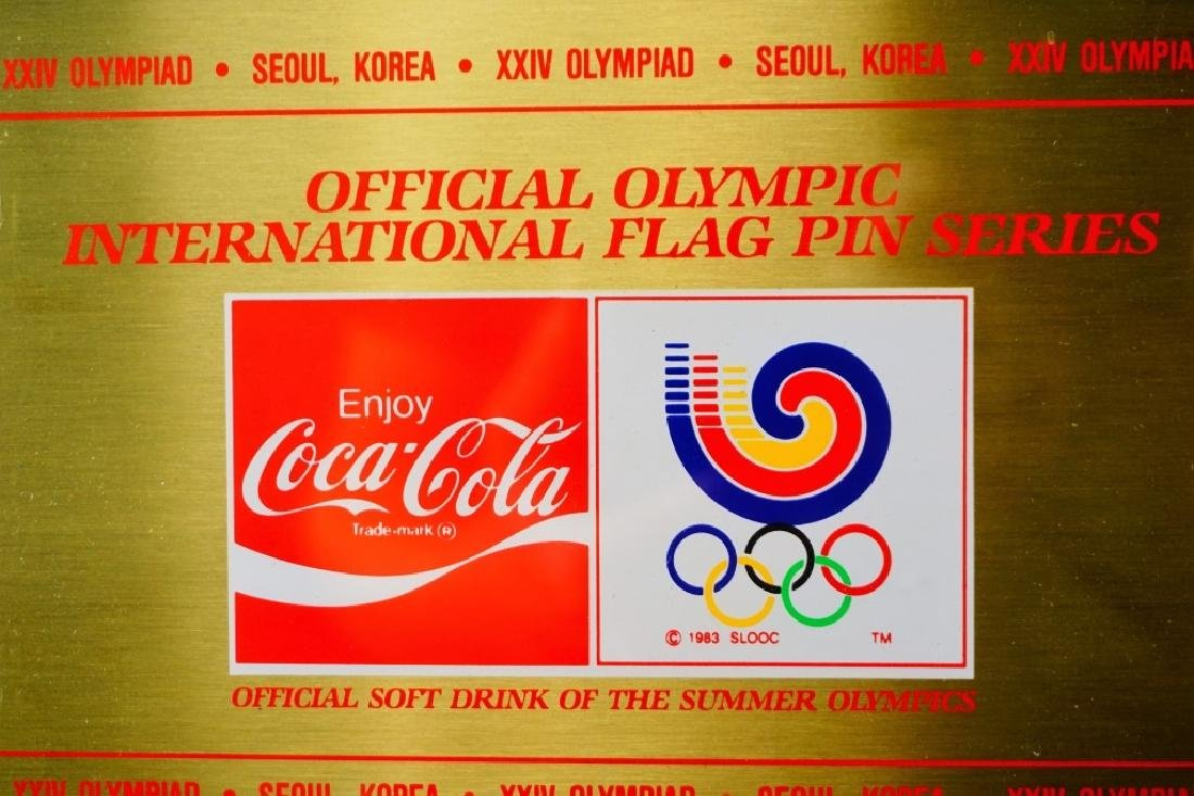 OFFICIAL OLYMPIC INT'L FLAG PINS XXIV SEOUL KOREA - 5