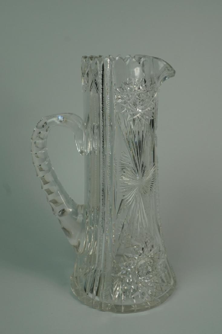 VINTAGE CUT GLASS PITCHER