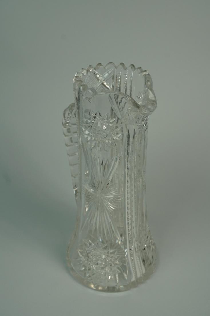 VINTAGE CUT GLASS PITCHER - 4