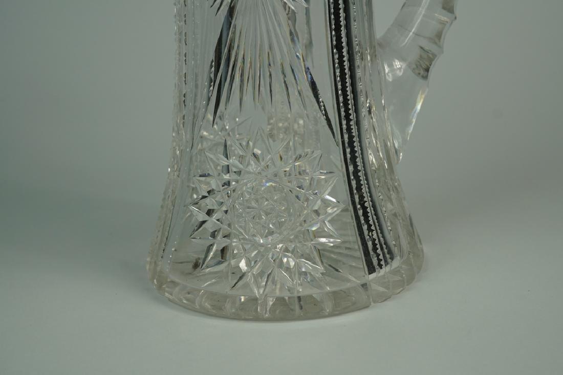 VINTAGE CUT GLASS PITCHER - 6