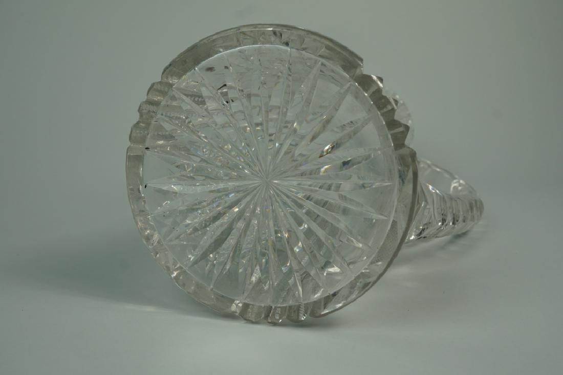 VINTAGE CUT GLASS PITCHER - 9