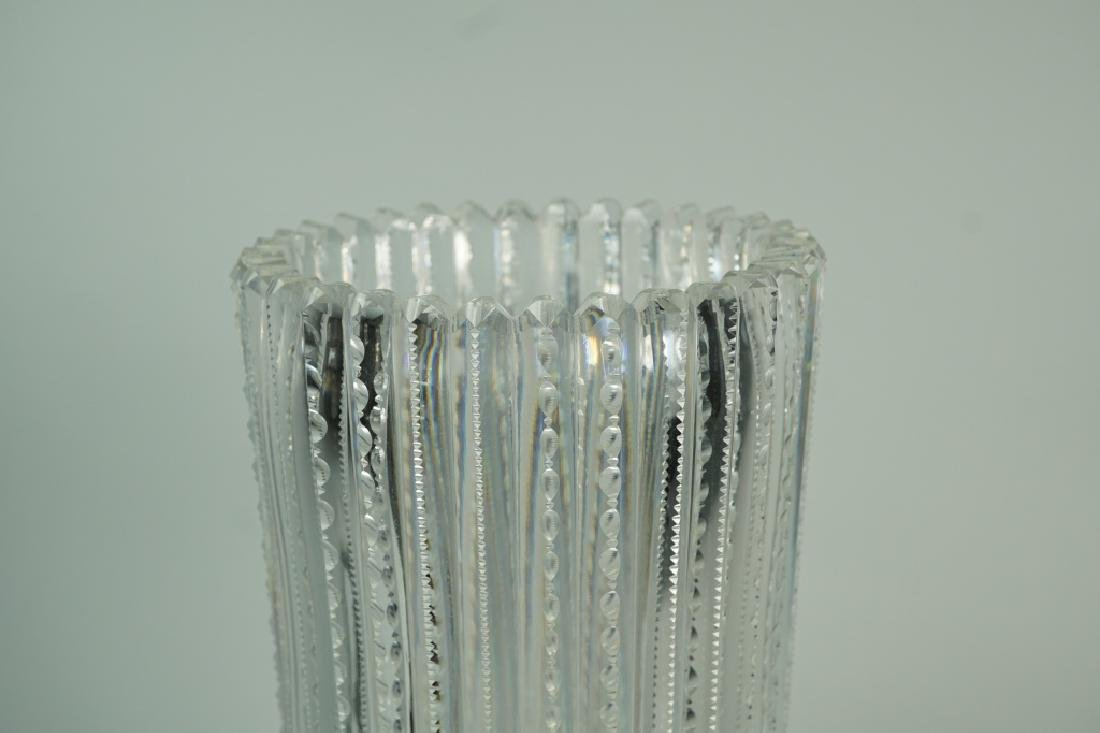 TALL CUT CRYSTAL VASE AND DISPLAY TRAY - 3