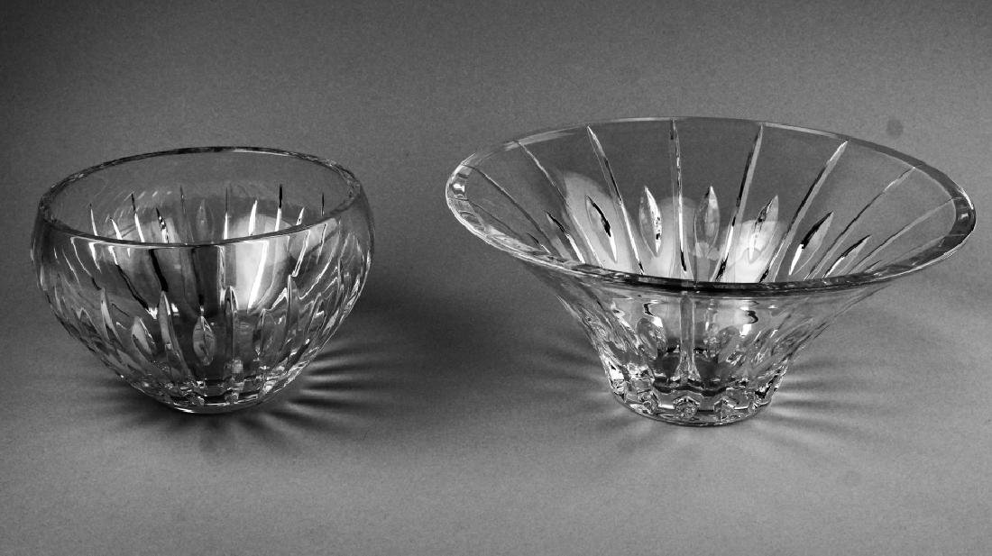 (2) WATERFORD CRYSTAL MARQUIS BOWLS