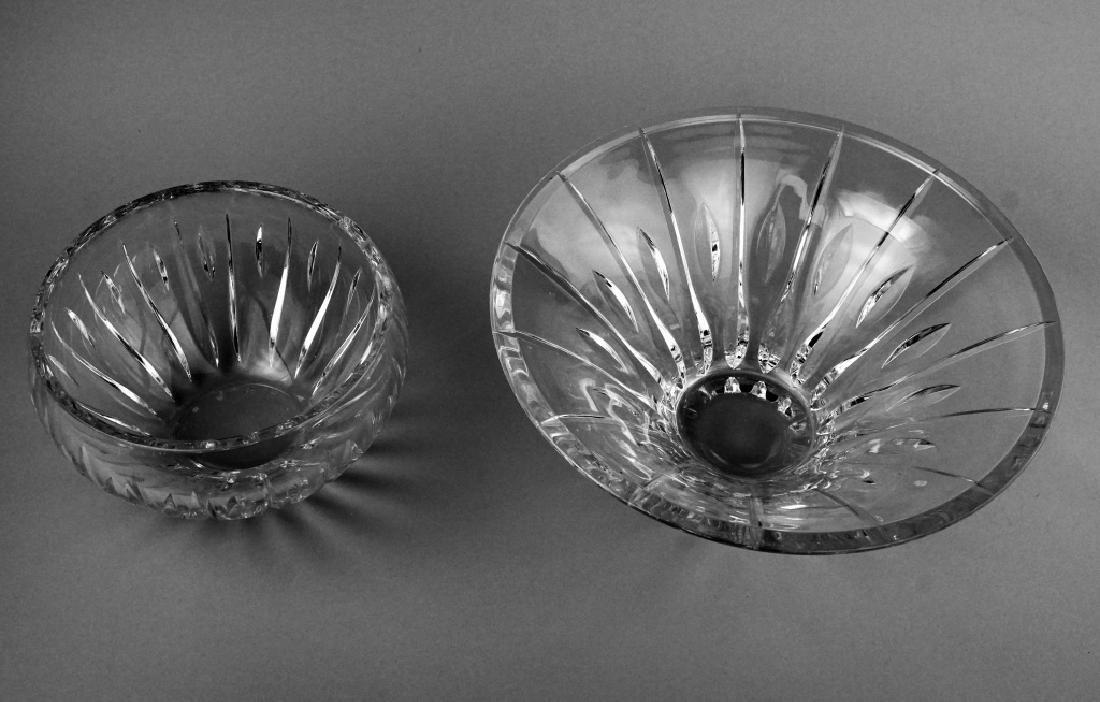(2) WATERFORD CRYSTAL MARQUIS BOWLS - 3