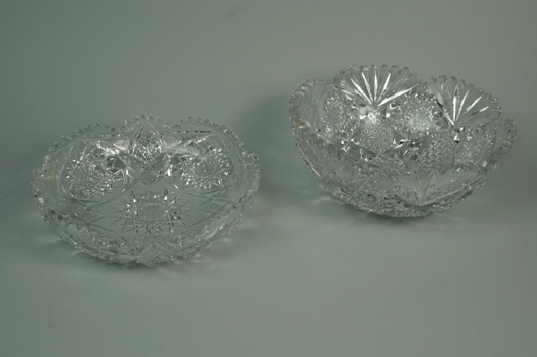 (2) ASSORTED CUT CRYSTAL BOWLS