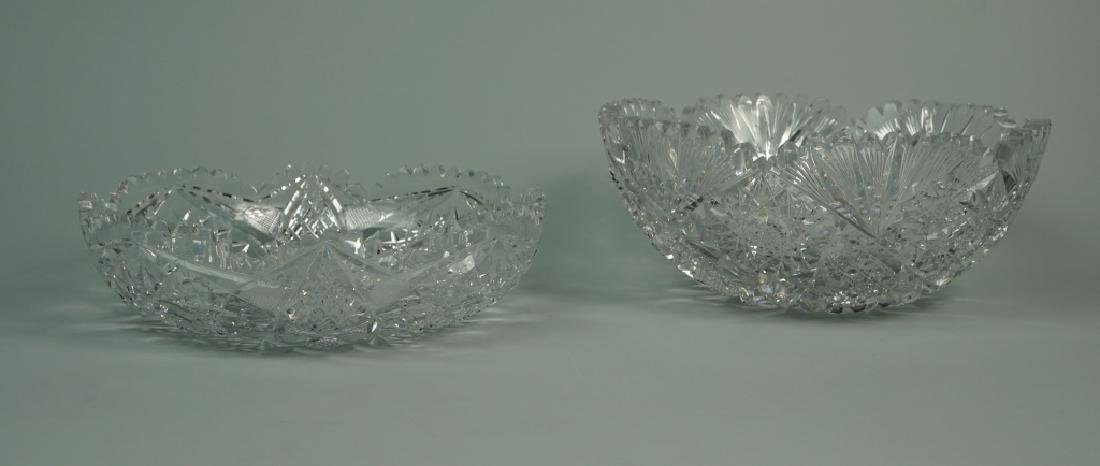 (2) ASSORTED CUT CRYSTAL BOWLS - 2