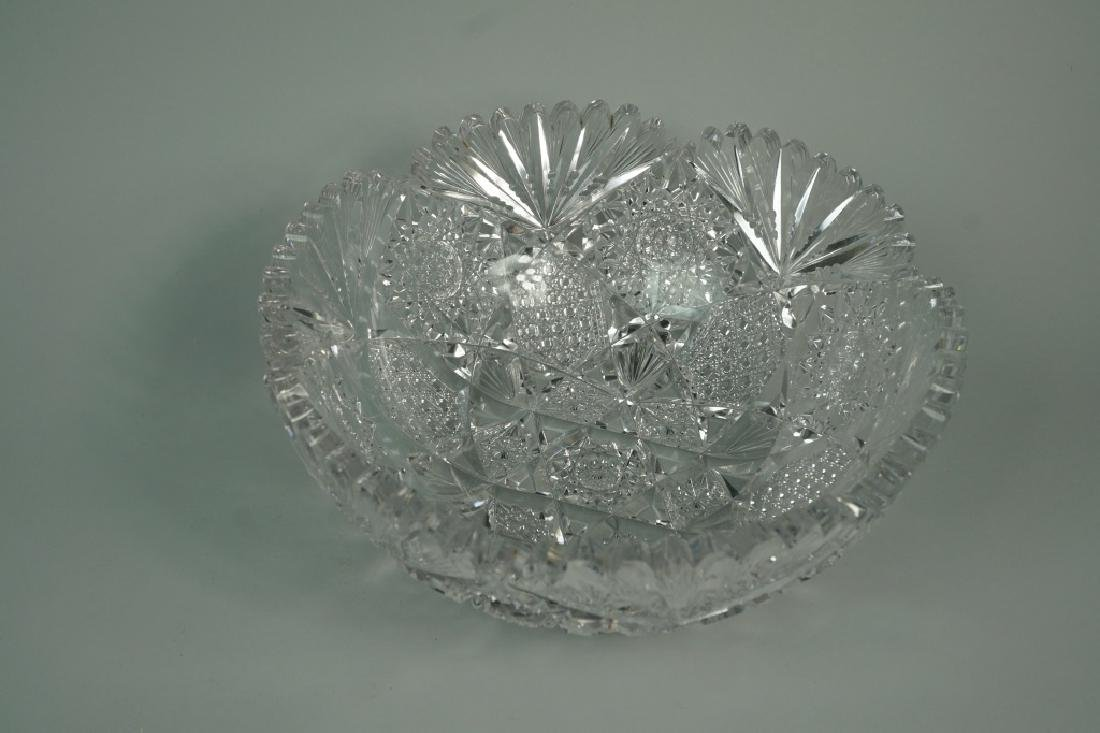 (2) ASSORTED CUT CRYSTAL BOWLS - 3