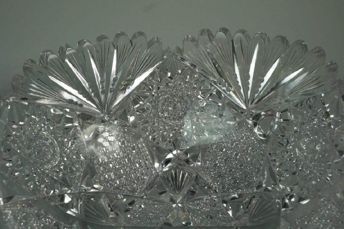 (2) ASSORTED CUT CRYSTAL BOWLS - 4