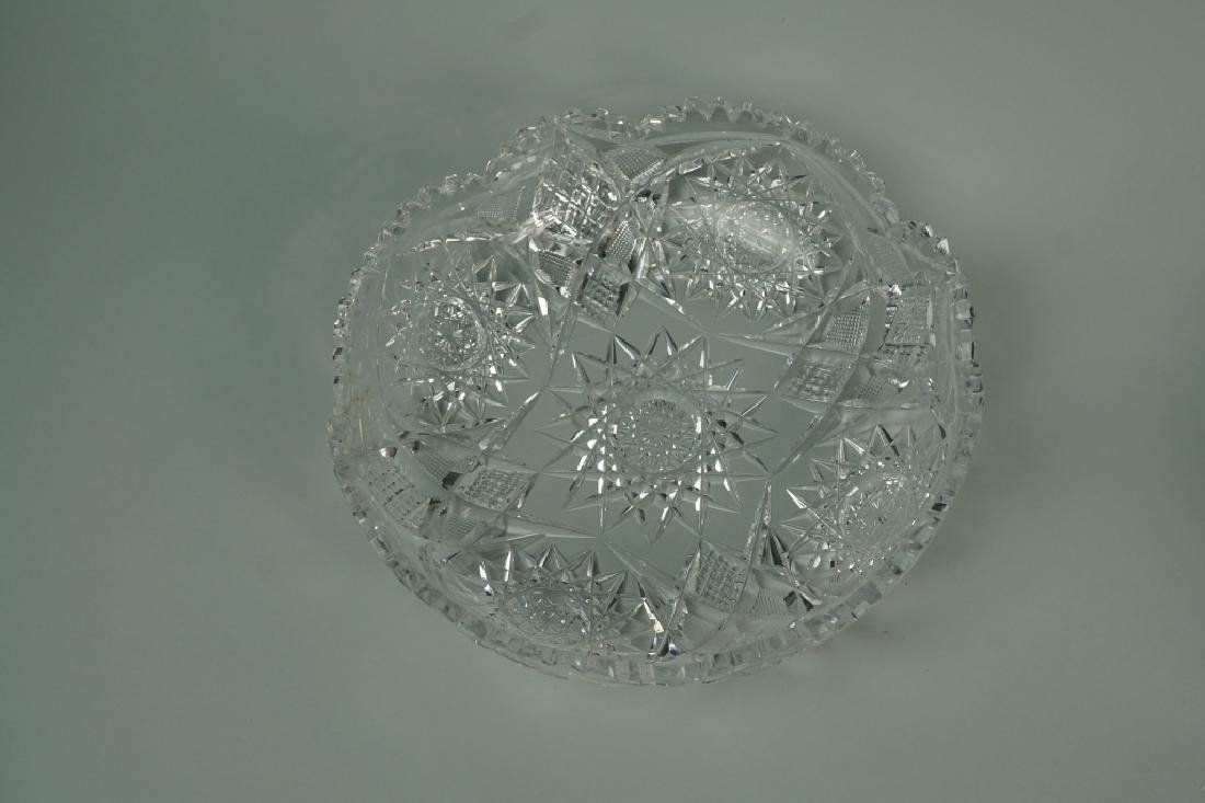 (2) ASSORTED CUT CRYSTAL BOWLS - 6