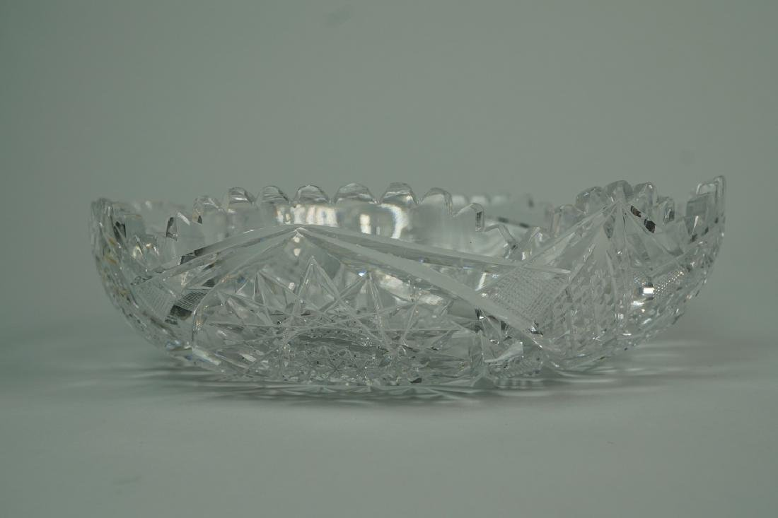 (2) ASSORTED CUT CRYSTAL BOWLS - 7