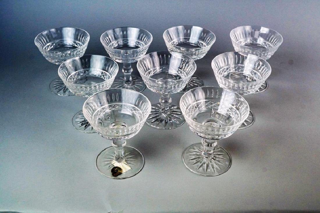 (9) WATERFORD TRAMORE SAUCER CHAMPAGNE GLASSES