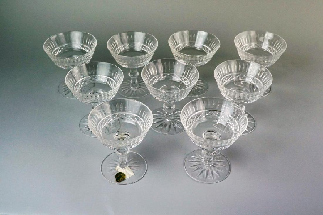 (9) WATERFORD TRAMORE SAUCER CHAMPAGNE GLASSES - 2