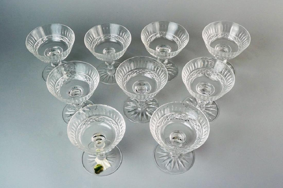 (9) WATERFORD TRAMORE SAUCER CHAMPAGNE GLASSES - 4