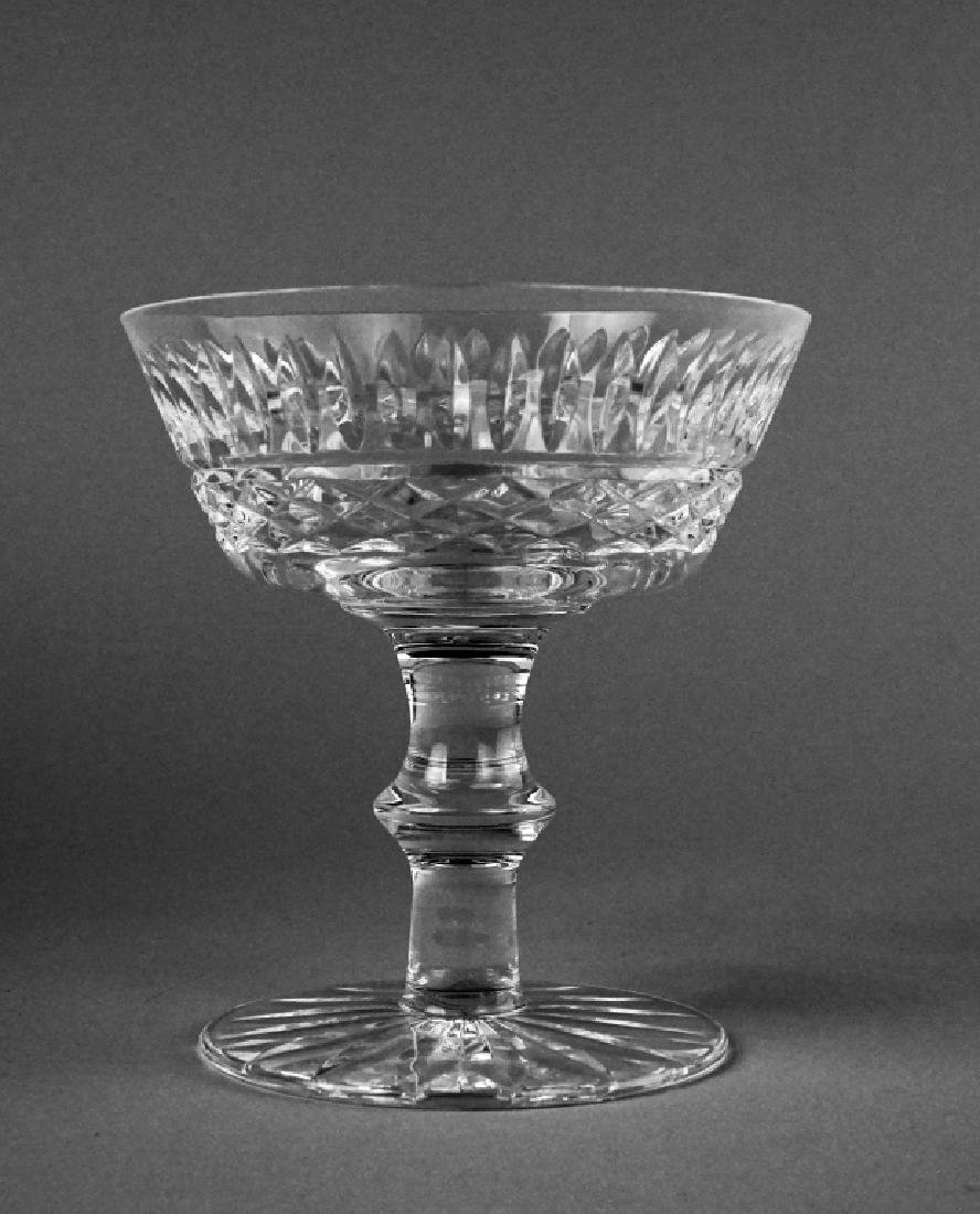 (9) WATERFORD TRAMORE SAUCER CHAMPAGNE GLASSES - 6
