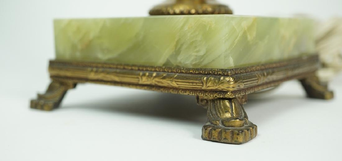 PAIR OF GREEN ONYX LAMPS - 5