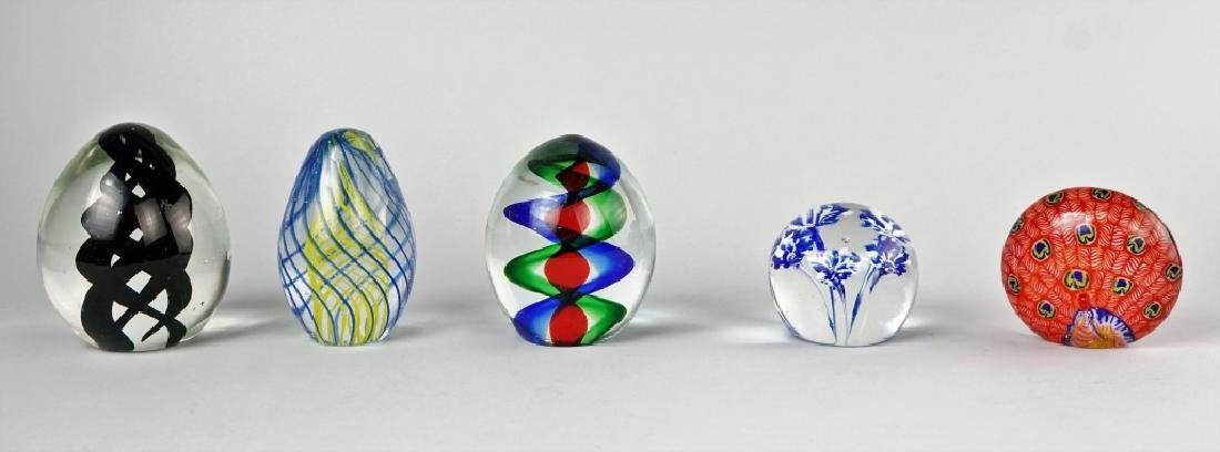 (5) ASSORTED GLASS PAPERWEIGHTS - 2
