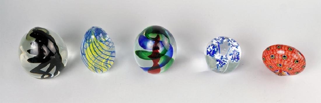 (5) ASSORTED GLASS PAPERWEIGHTS - 3