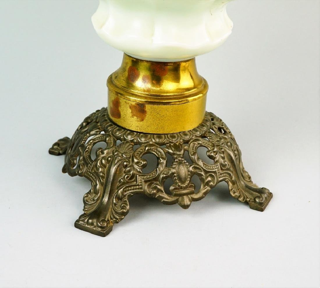ELECTRIFIED MILK GLASS GONE WITH THE WIND OIL LAMP - 2