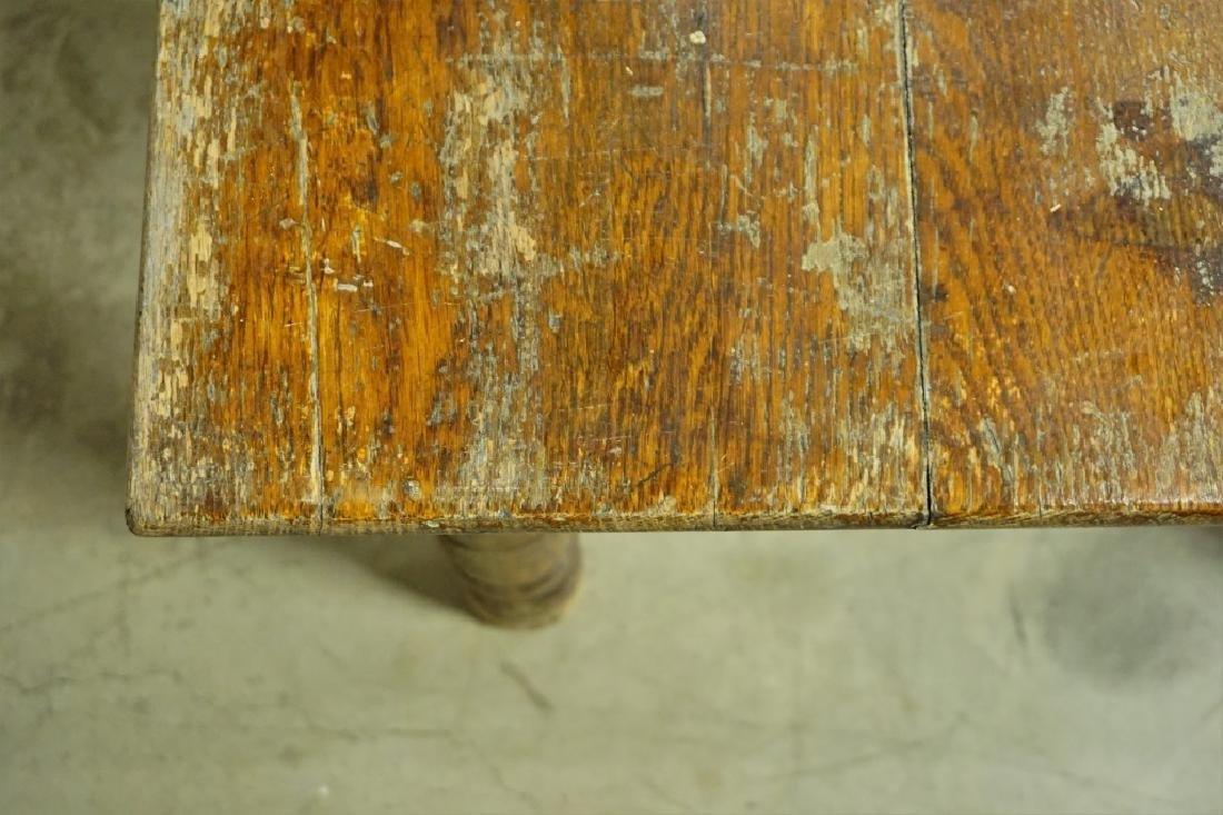 SQUARE OAK LIBARY TABLE - 4