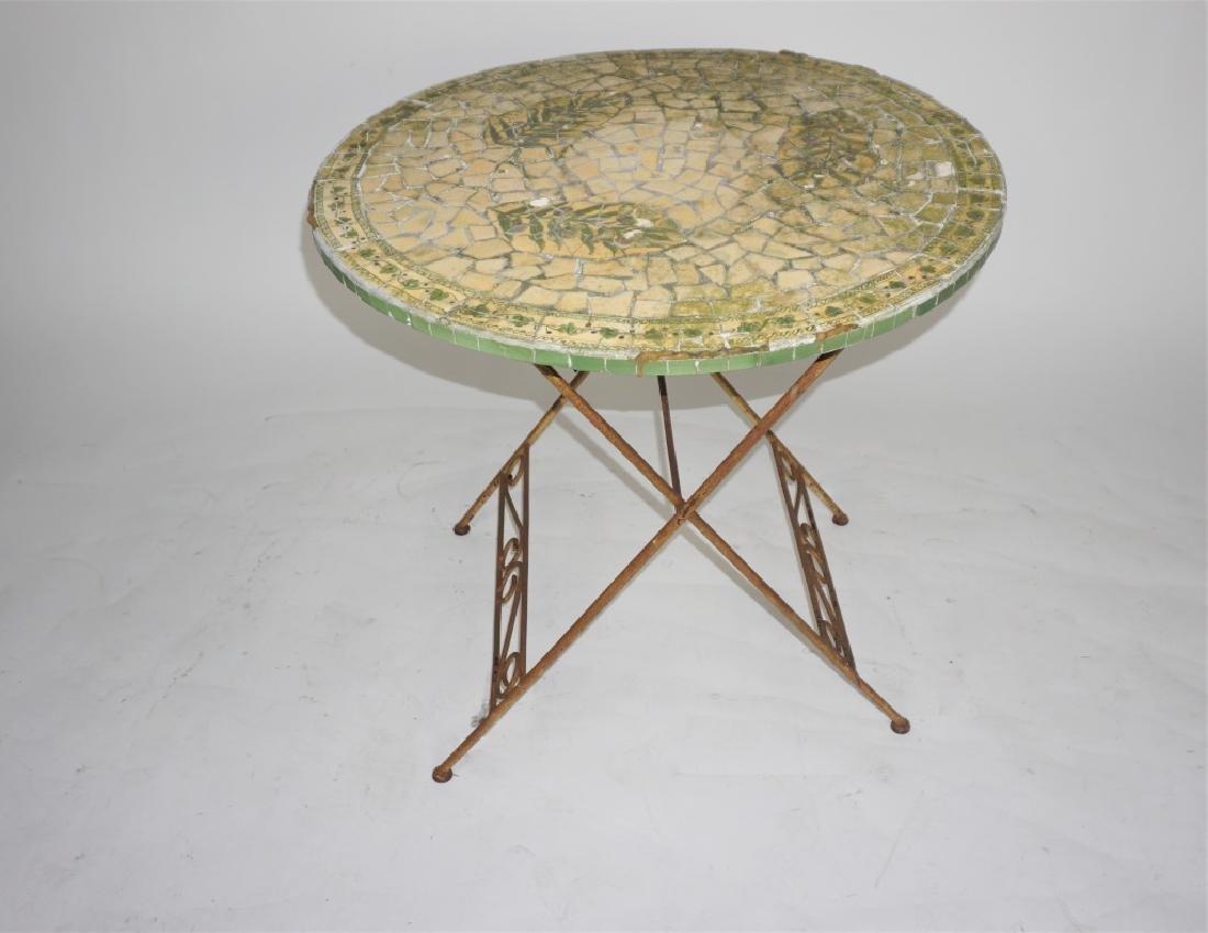 VINTAGE MOSAIC TOP TABLE