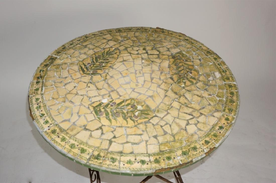 VINTAGE MOSAIC TOP TABLE - 2