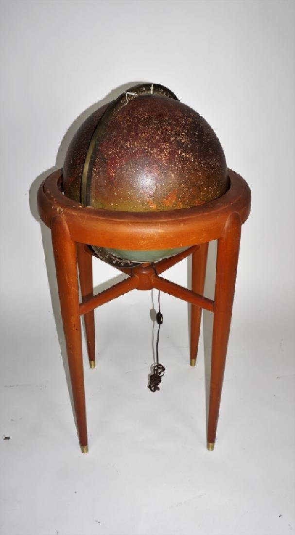 VINTAGE REPLOGLE LIGHTED LIBRARY GLOBE