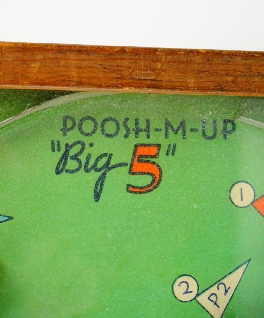 VINTAGE POOSH-M-UP BIG 5 BAGETELLE - 6