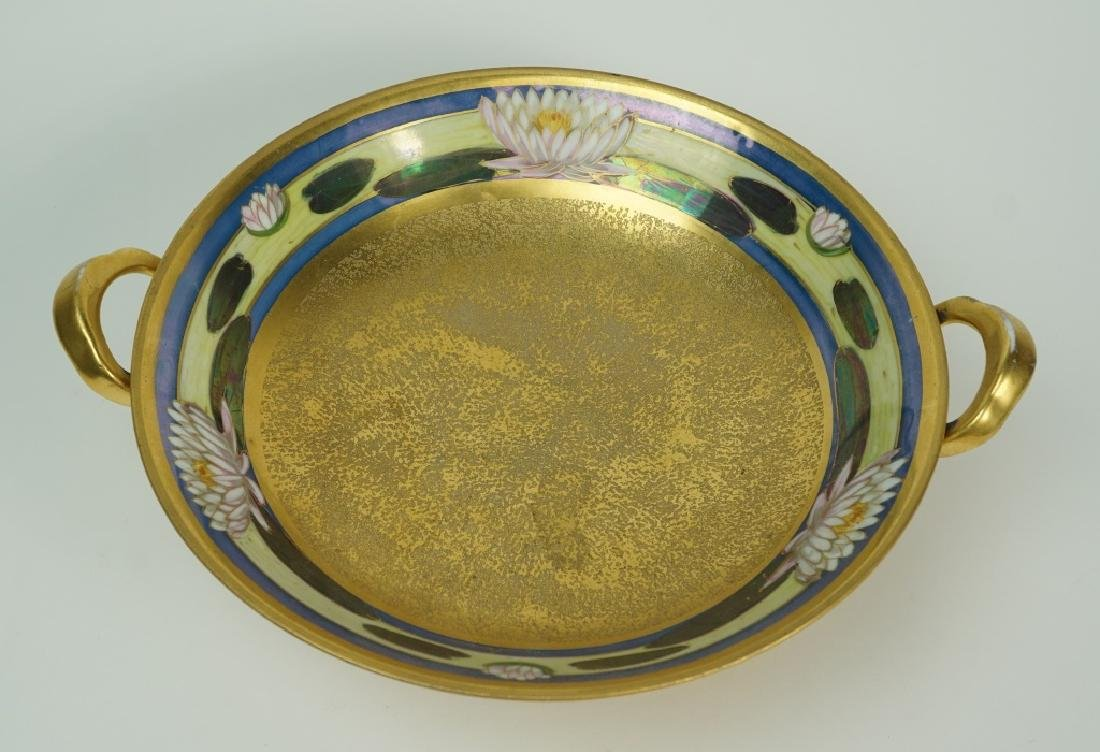 PICKARD ETCHED CHINA WATER LILIES BOWL