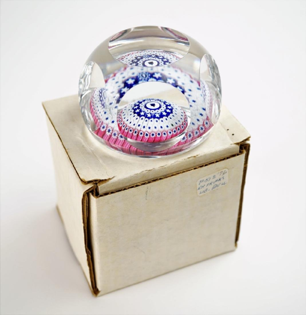 VINTAGE WHITEFRIARS LIBERTY BELL GLASS PAPERWEIGHT