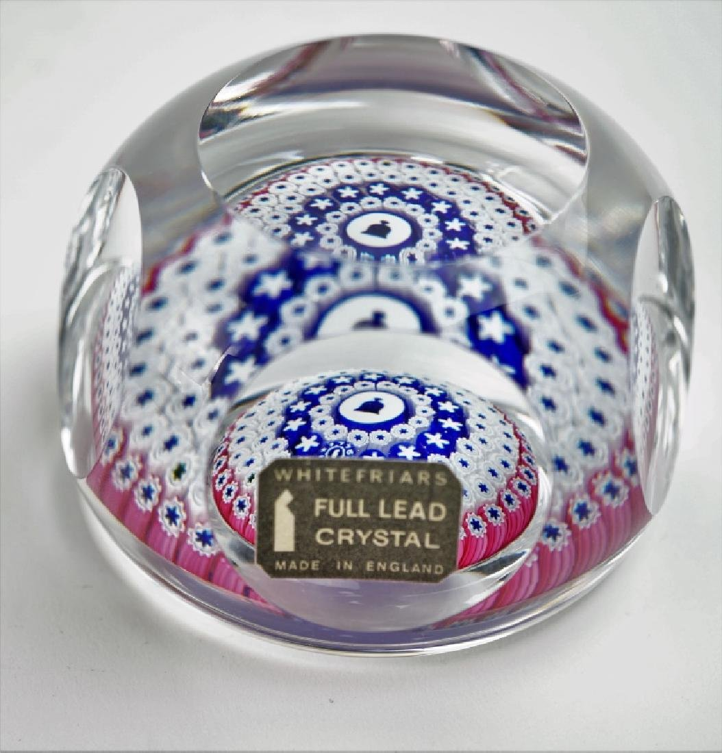 VINTAGE WHITEFRIARS LIBERTY BELL GLASS PAPERWEIGHT - 6