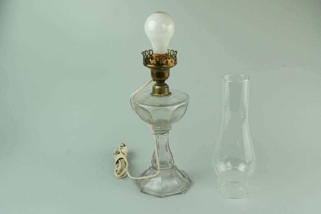 VINTAGE ELECTRIFIED OIL LAMP - 5