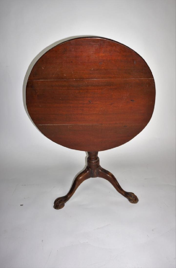 ANTIQUE CHIPPENDALE STYLE TILT TOP TABLE
