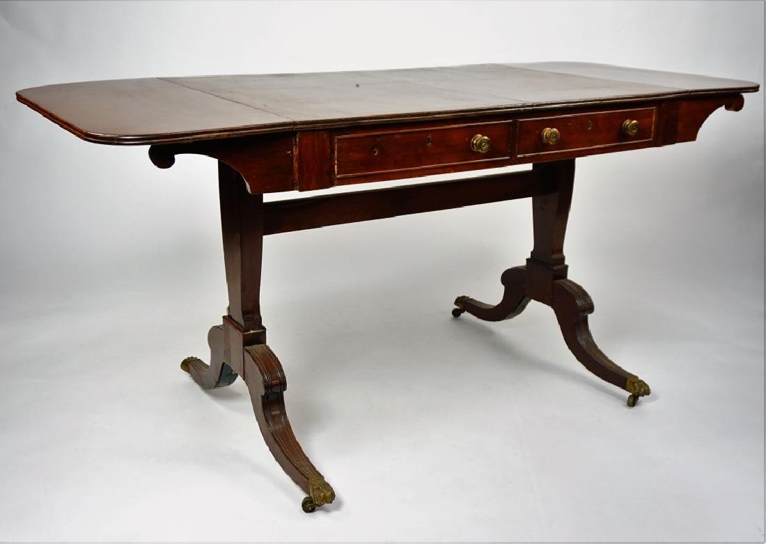 MAHOGANY DROP LEAF WRITING DESK