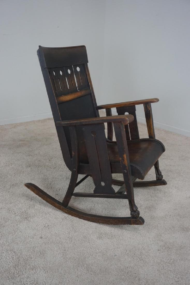 OAK MISSION STYLE ROCKER - 2