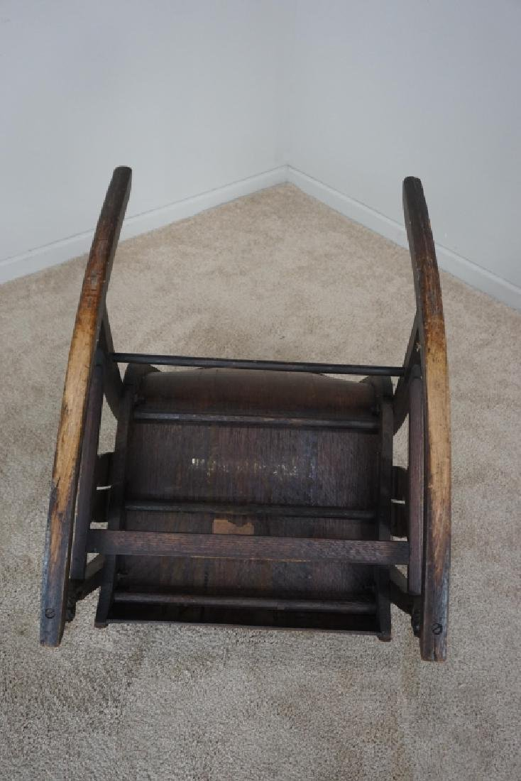 OAK MISSION STYLE ROCKER - 9