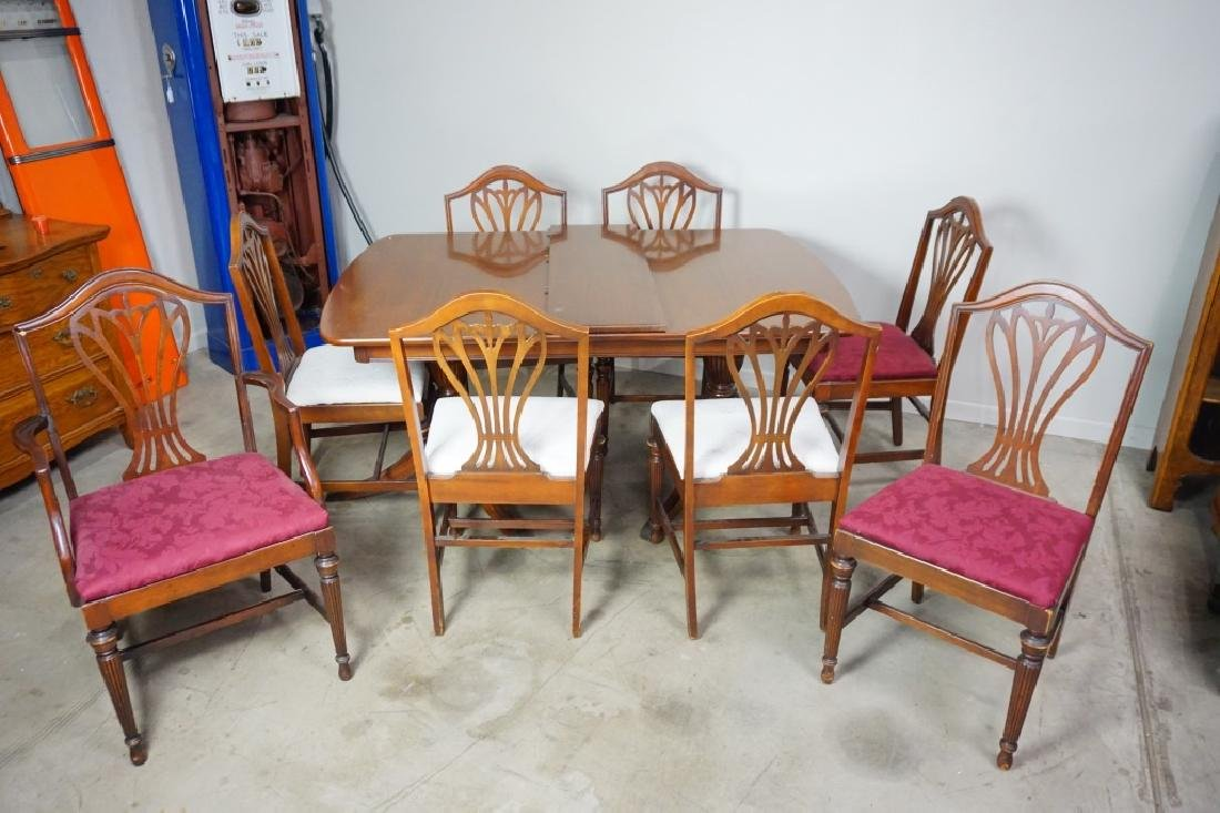 7pc MAHOGANY DINING ROOM SUITE