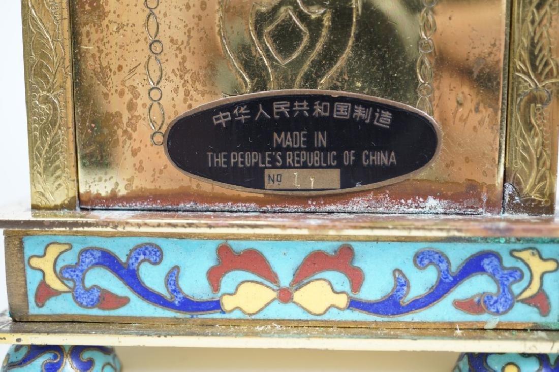 CHINESE CLOISONNÉ CASE CLOCK - 4