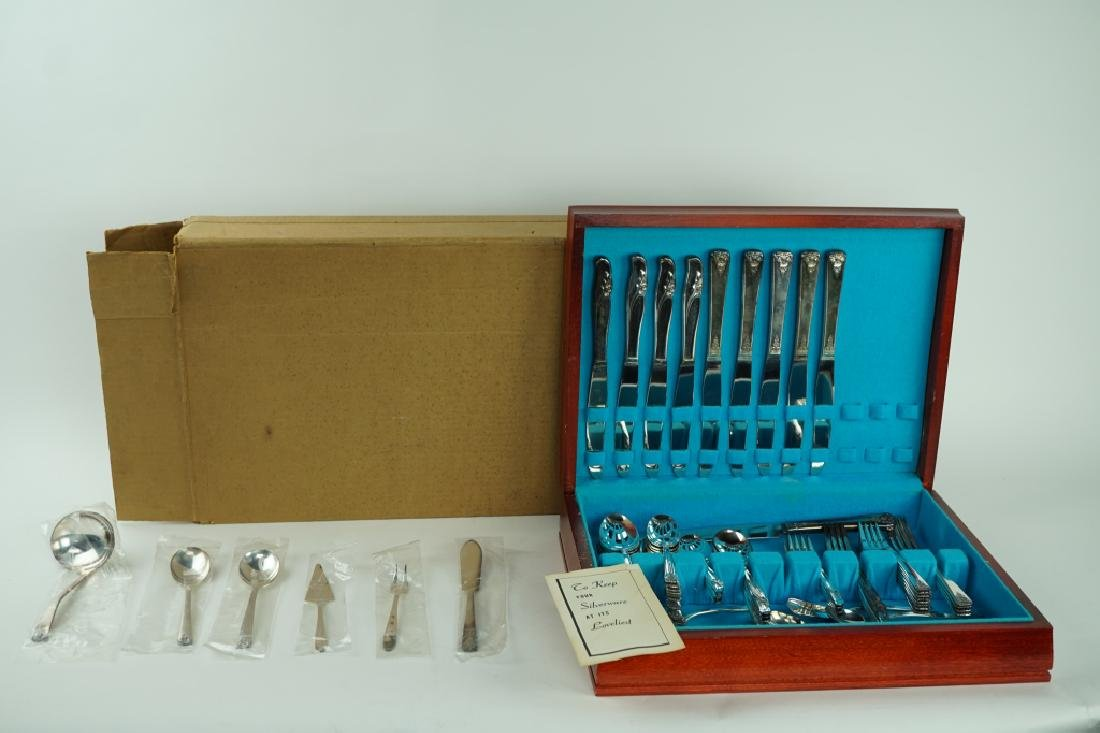 70pcs ASSORTED SILVER-PLATE IN CHEST