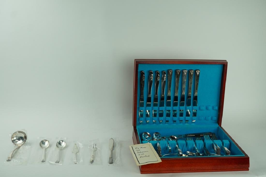 70pcs ASSORTED SILVER-PLATE IN CHEST - 2