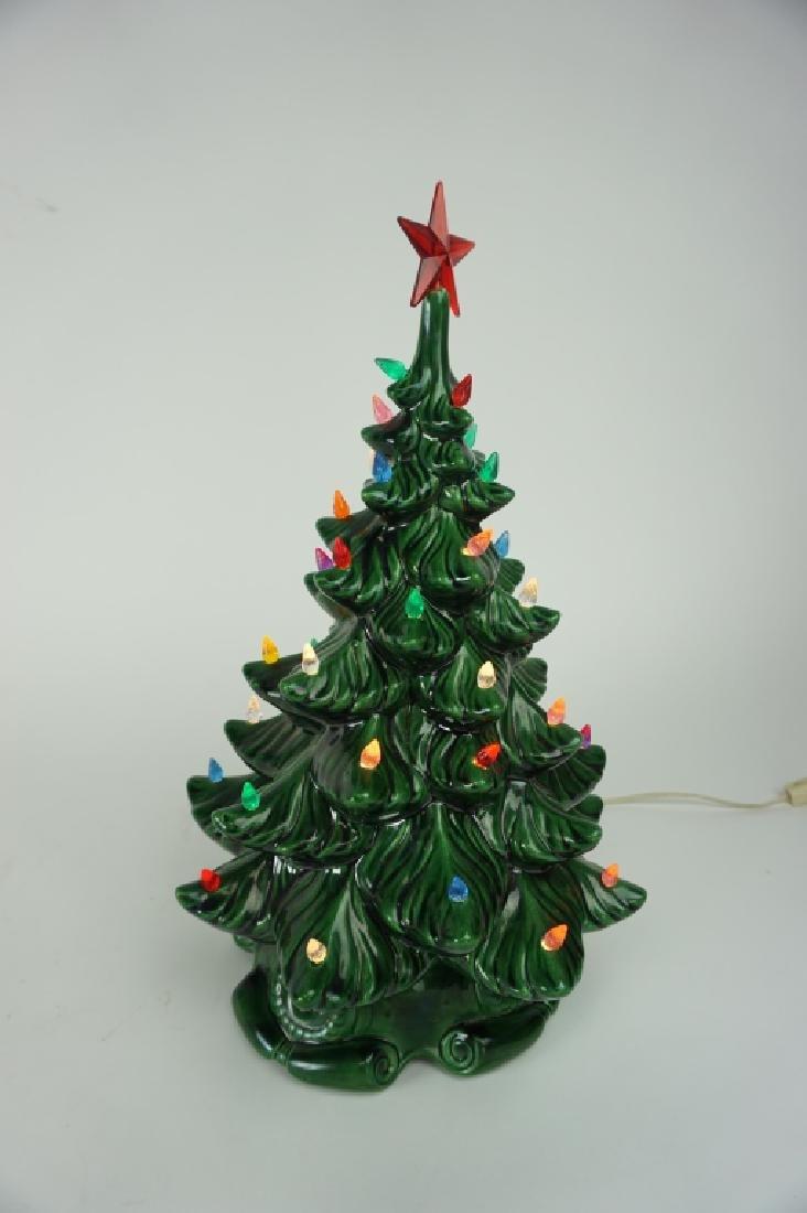 VINTAGE CERAMIC CHRISTMAS TREE - 2