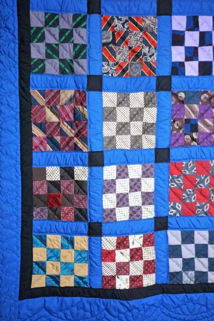 HAND MADE AMISH QUILT FROM OLD TIES