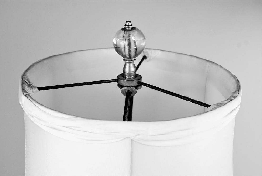 ETCHED GLASS TABLE LAMP - 5