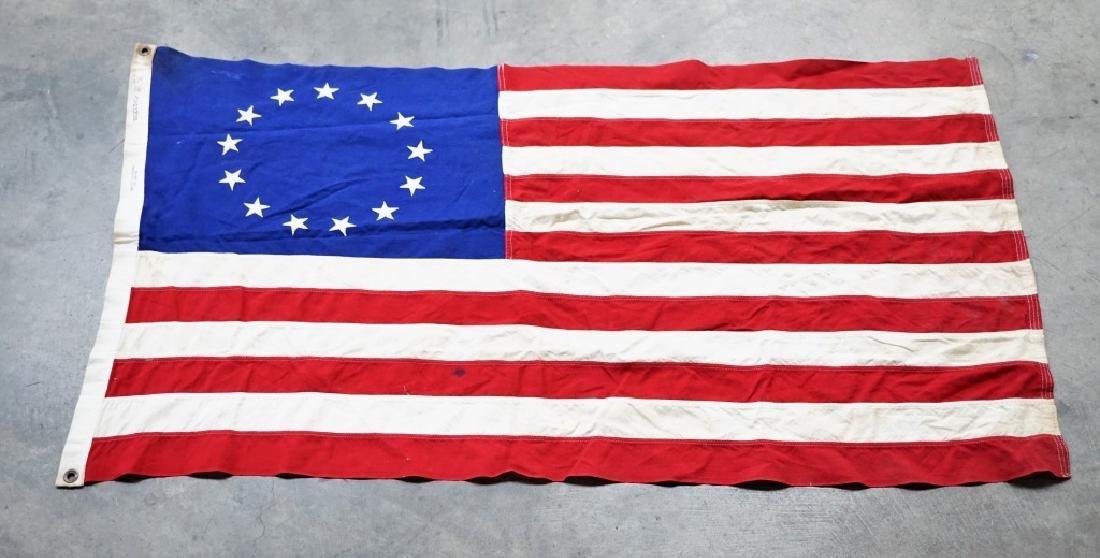 VINTAGE 13-STAR AMERICAN FLAG