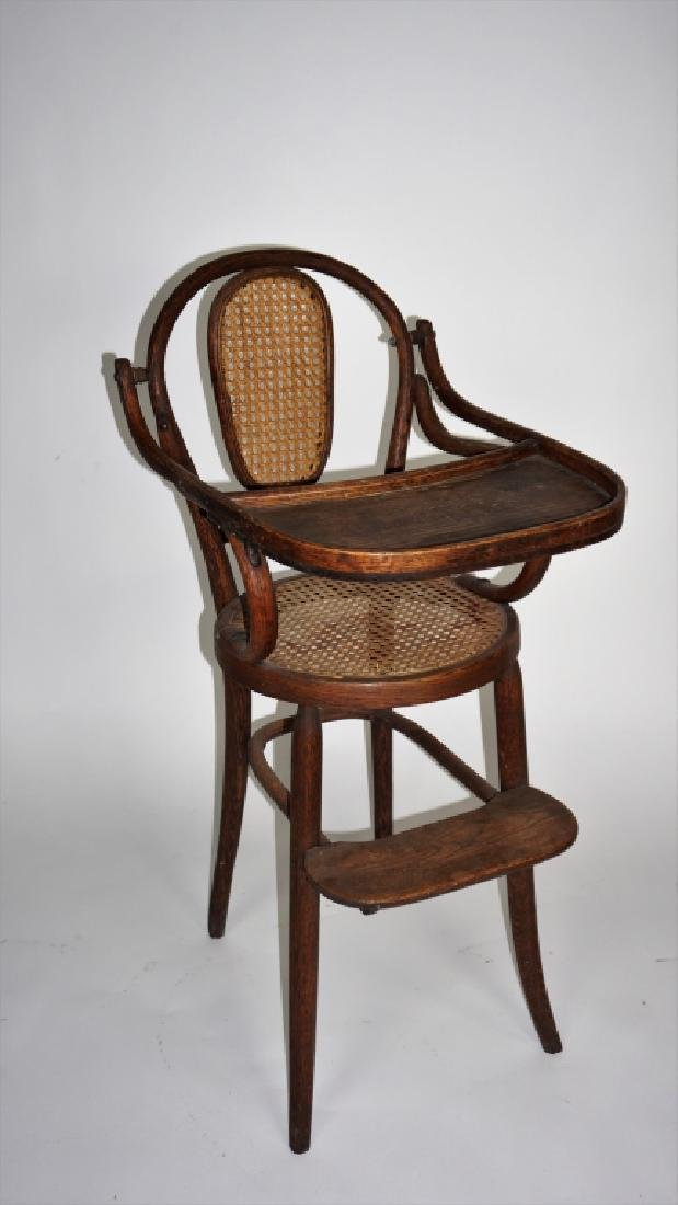 ANTIQUE BENT WOOD HIGH CHAIR