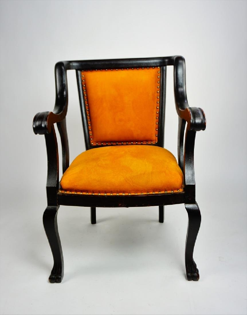 EMPIRE STYLE OPEN ARM CHAIR - 3